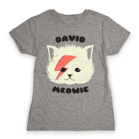 David Meowie Womens T-Shirt