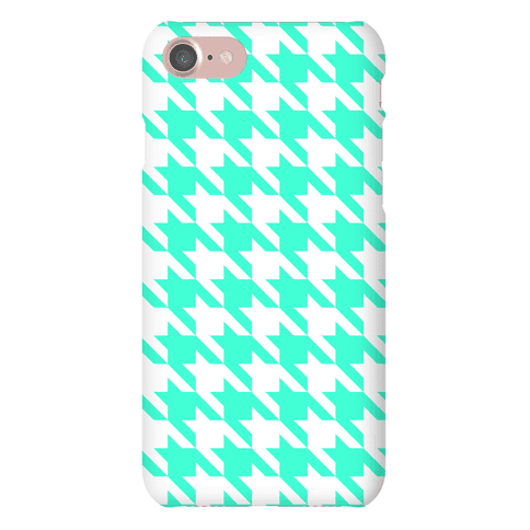 Mint Houndstooth