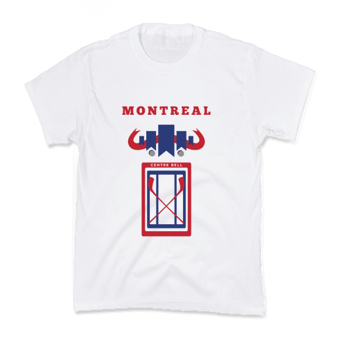 Montreal Stadium Hockey Fan Kids T-Shirt