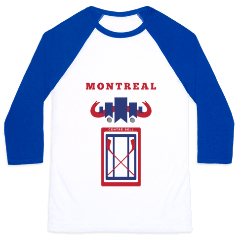 Montreal Stadium Hockey Fan Baseball Tee