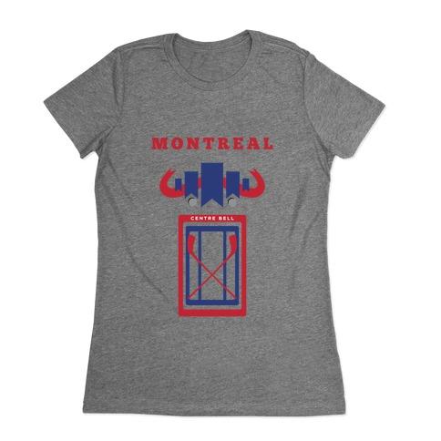 Montreal Stadium Hockey Fan Womens T-Shirt