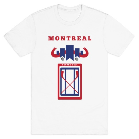 Montreal Stadium Hockey Fan Mens T-Shirt