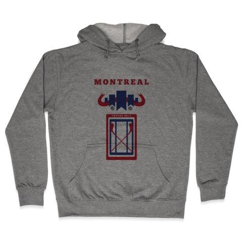 Montreal Stadium Hockey Fan Hooded Sweatshirt