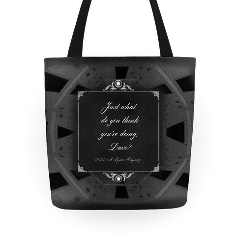 2001: A Space Odessey Quote Tote Tote