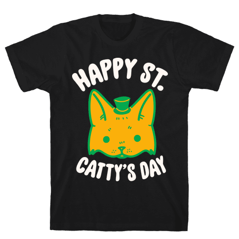 Happy St. Catty's Day Mens T-Shirt