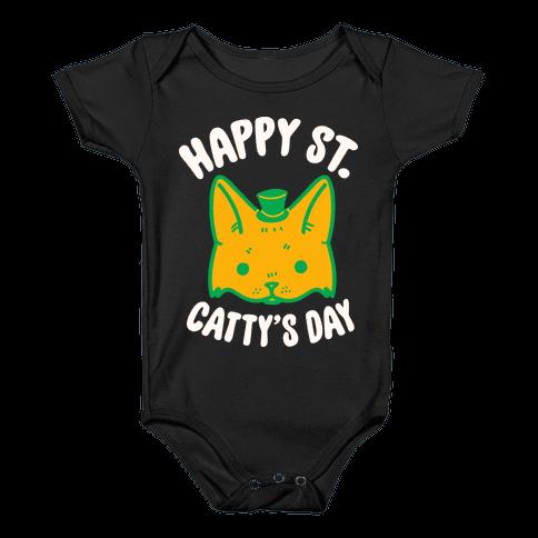 Happy St. Catty's Day Baby Onesy