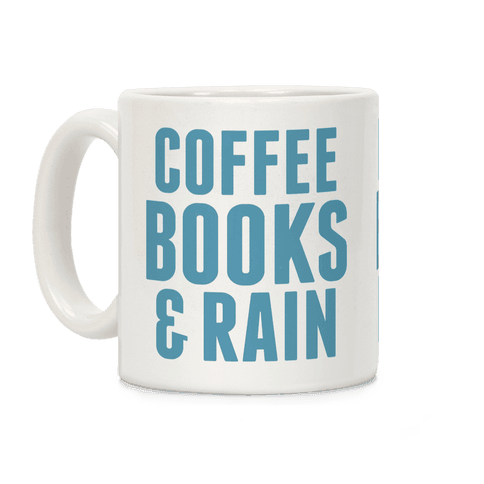 Coffee Books & Rain Coffee Mug