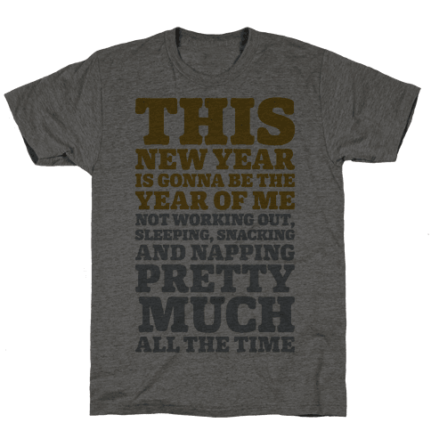 Lazy New Year Mens T-Shirt