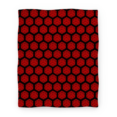D20 Blanket (Red Dice) Blanket