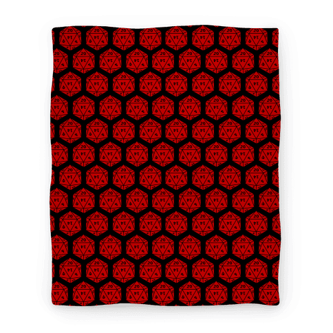 D20 Blanket (Red Dice)