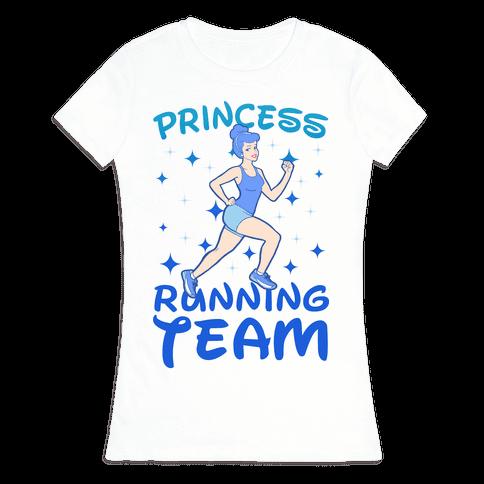 Princess Running Team Womens T-Shirt
