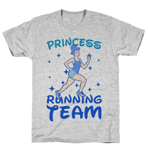 Princess Running Team Mens T-Shirt