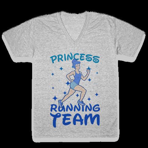 Princess Running Team V-Neck Tee Shirt
