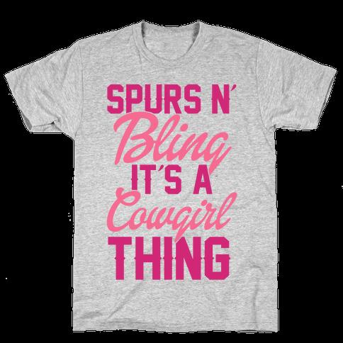 Spurs N' Bling Mens T-Shirt