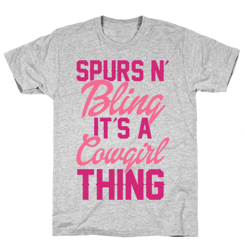 Spurs N' Bling Mens T-Shirt