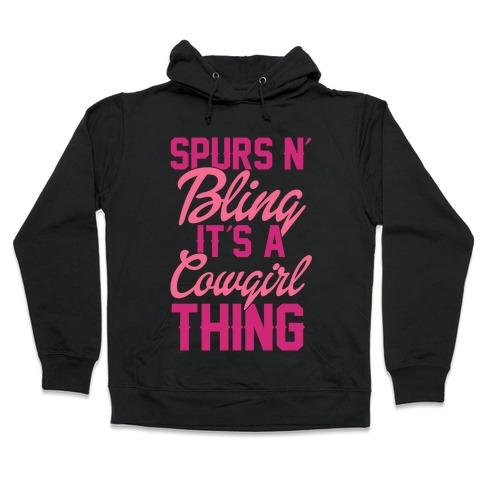 Spurs N' Bling Hooded Sweatshirt