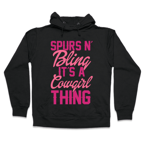 Spurs N' Bling Hooded Sweatshirt