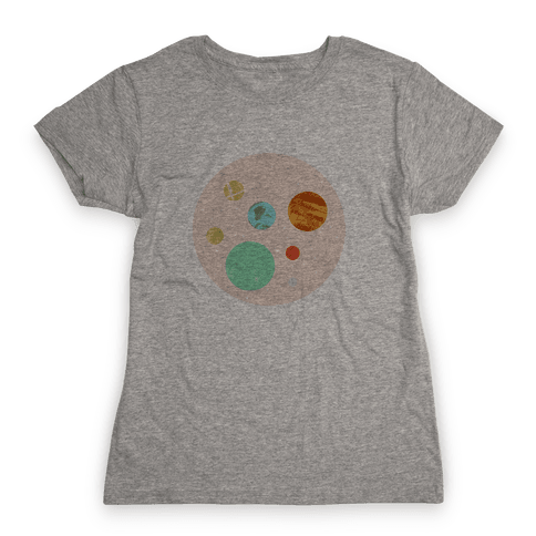 Coffee & Space Planets Womens T-Shirt