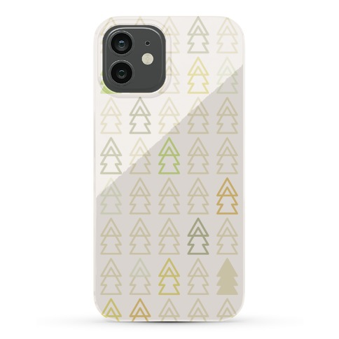 Autumn Evergreen Trees Phone Case