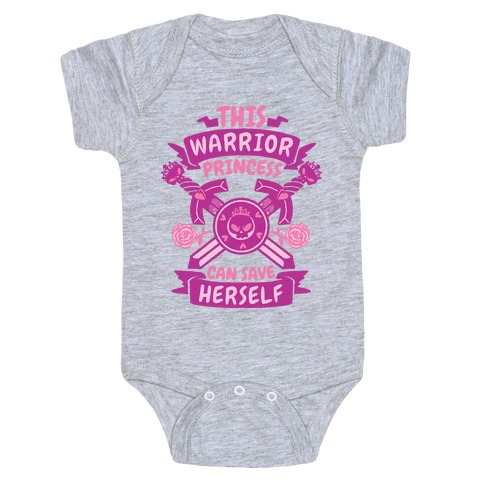 This Warrior Princess Can Save Herself Baby Onesy