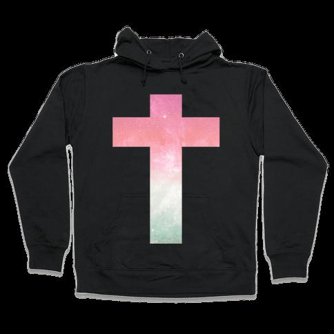 Cosmic Cross Hooded Sweatshirt