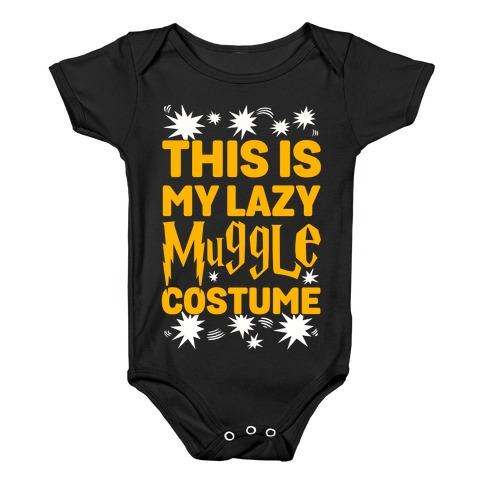 This is My Lazy Muggle Costume Baby Onesy