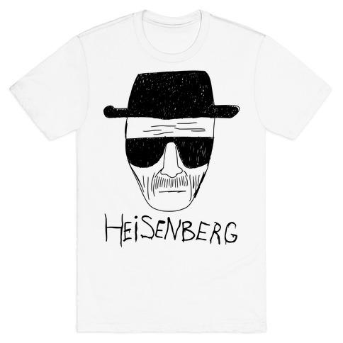 Heisenberg Police Sketch Mens T-Shirt