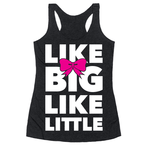 Like Big Like Little Racerback Tank Top
