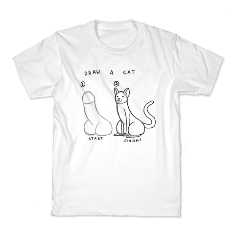 How To Draw a Cat Kids T-Shirt