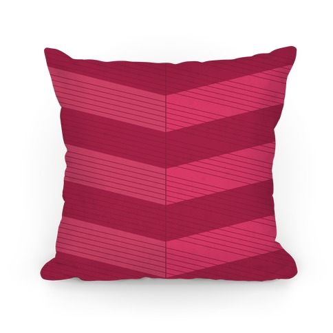 Stripes on Stripes Pattern (Red) Pillow