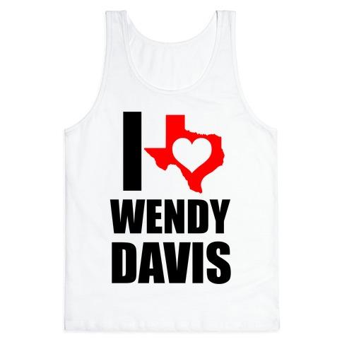 I Heart Wendy Davis Tank Top