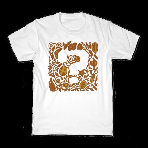 Floral Question Block Kids T-Shirt