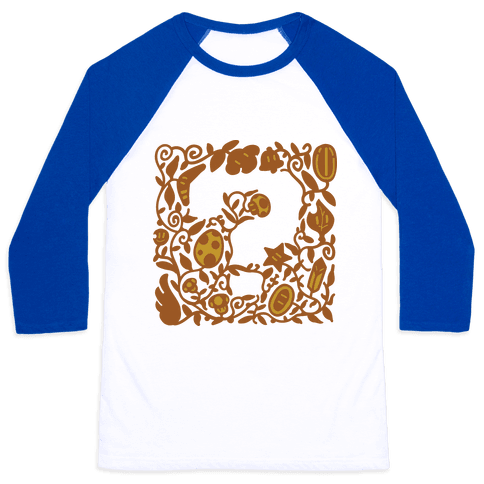 Floral Question Block Baseball Tee