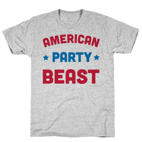 AMERICAN PARTY BEAST Mens T-Shirt