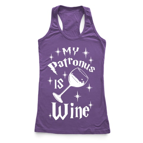 My Patronus Is Wine Racerback Tank Top