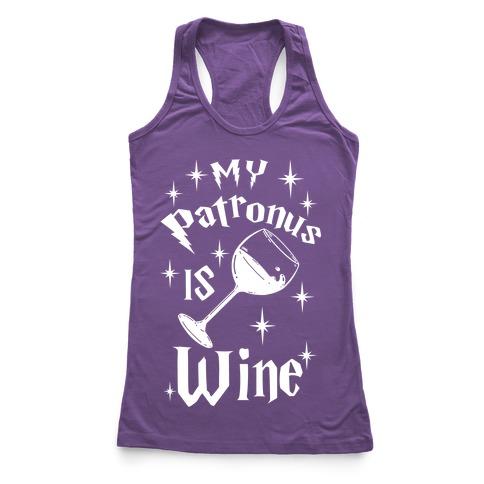 My Patronus Is Wine Racerback Tank Top