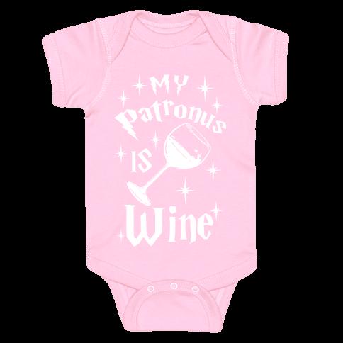 My Patronus Is Wine Baby Onesy
