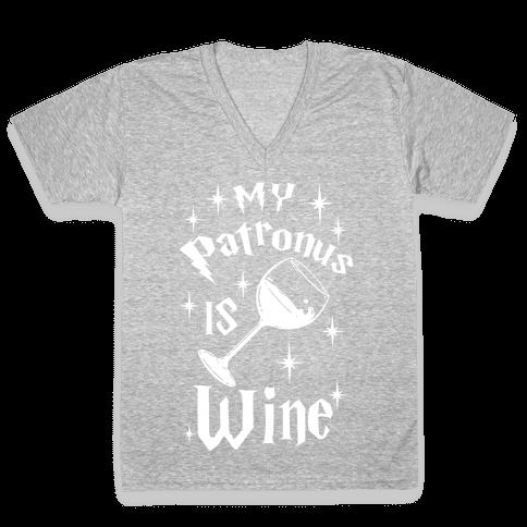 My Patronus Is Wine V-Neck Tee Shirt