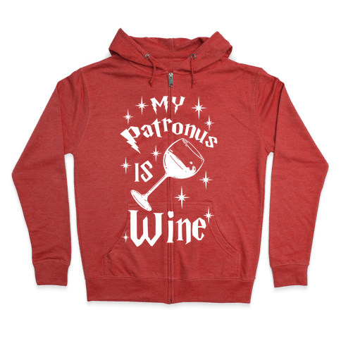 My Patronus Is Wine Zip Hoodie