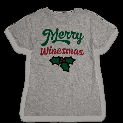 Merry Winesmas Womens T-Shirt