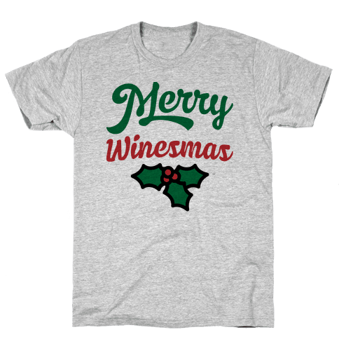 Merry Winesmas Mens T-Shirt