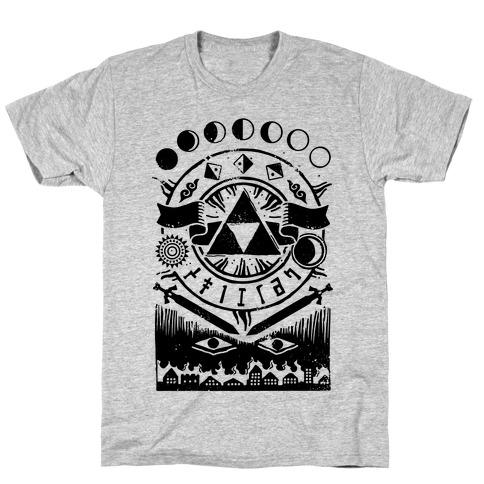 Hyrule Occult Symbols Mens/Unisex T-Shirt