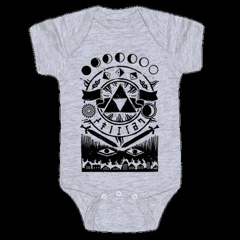 Hyrule Occult Symbols Baby Onesy