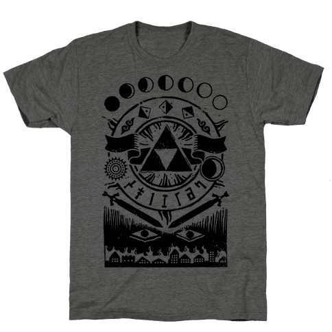 Hyrule Occult Symbols Mens T-Shirt