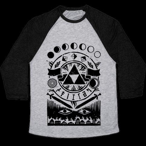 Hyrule Occult Symbols Baseball Tee