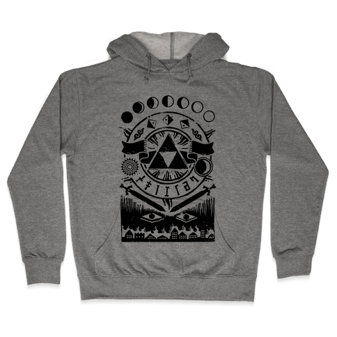Hyrule Occult Symbols Hooded Sweatshirt