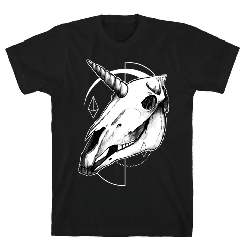 Geometric Occult Unicorn Skull
