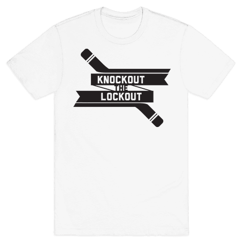 Knockout the Lockout (Black) Mens T-Shirt