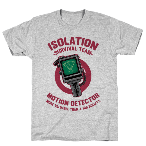 Isolation Survival Team Motion Detector Mens T-Shirt