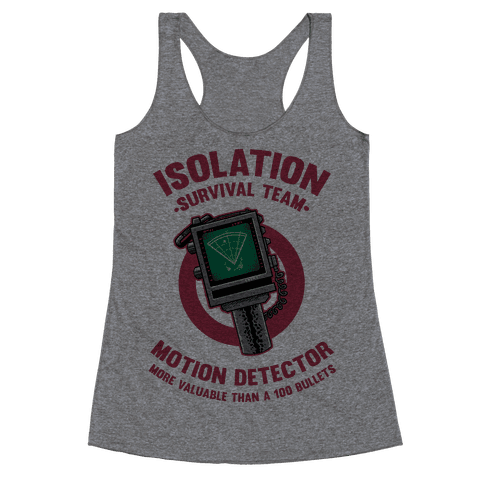 Isolation Survival Team Motion Detector Racerback Tank Top
